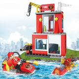 Fire station building block toys-2