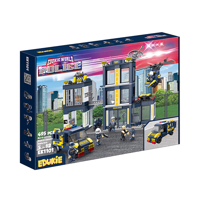 police car toy driving toy diy police swat toys for education-2