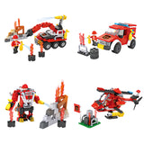 Crestive 8 in 1 fire combination enlighten building bricks kids toys set for gift-2
