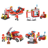 Crestive 8 in 1 fire combination enlighten building bricks kids toys set for gift-3