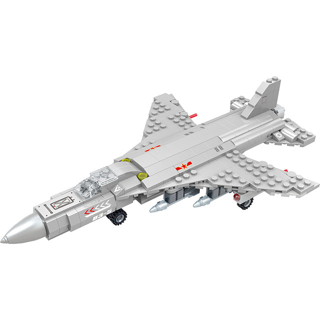 aBS military series plane puzzle building block toy set-2