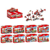 Creative 8 in 1 fire station building blocks for kids-3