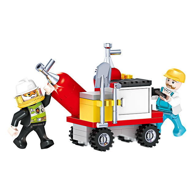New style fire station puzzle building bricks kids toys set for gift-2