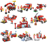 Creative 8 in 1 fire station building blocks for kids-2