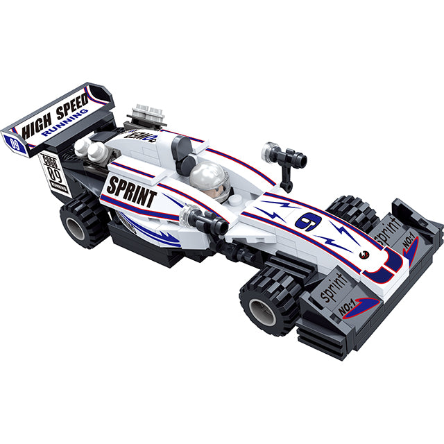 Popular boy style racing car building bricks toys kit-4