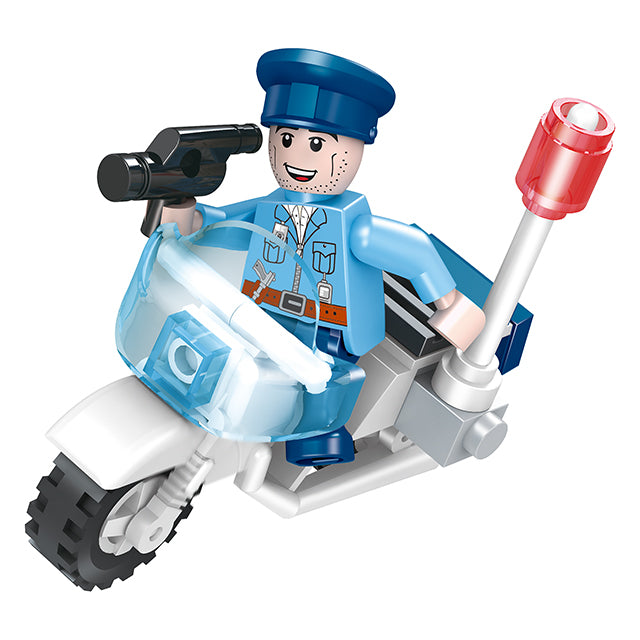 ABS police station educational build blocks toys for kids-3