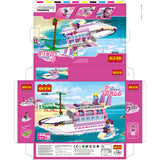 luxury boat model block toys-3
