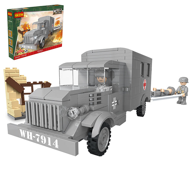 Funny blocks toys military ambulance blocks play toys-1