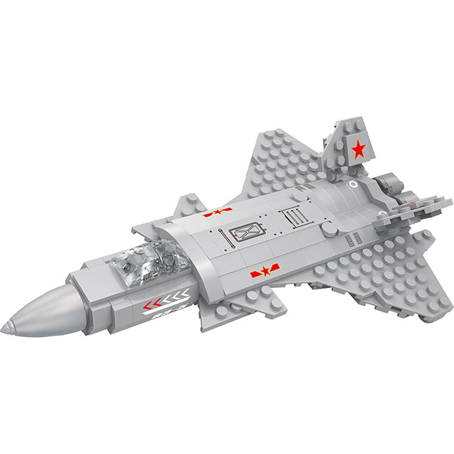 aBS military series plane puzzle building block toy set-4