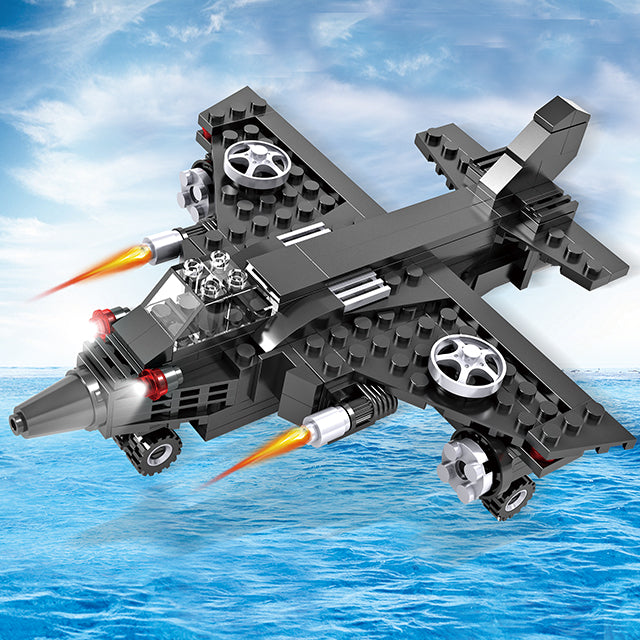 Crestive 3 in 1 combination airplane building bricks kids toys-2