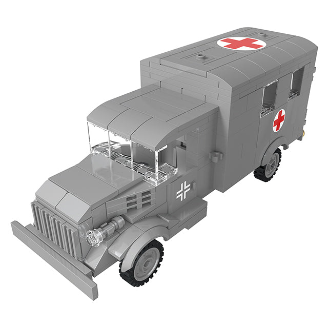 Funny blocks toys military ambulance blocks play toys-3