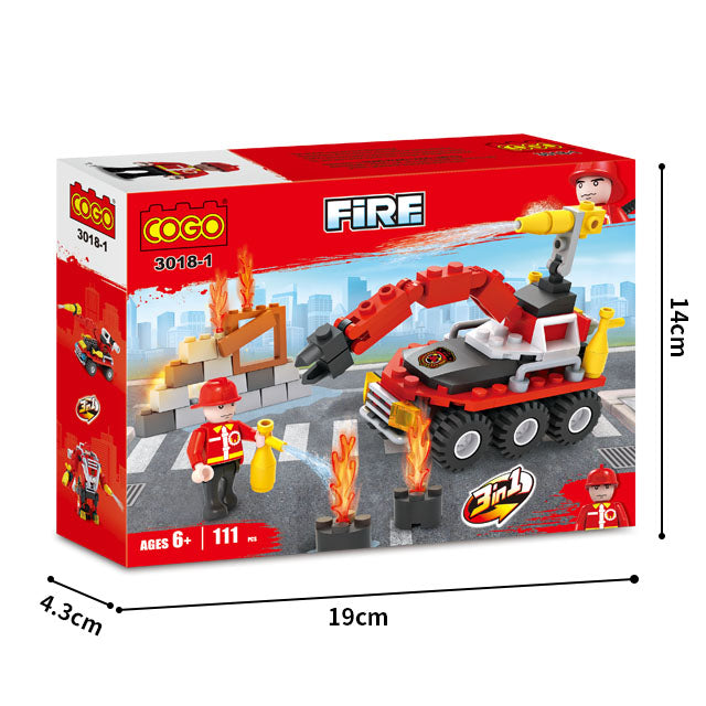 Creative 8 in 1 fire station building blocks for kids-4
