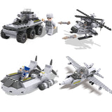 Army Carriage Model Building Blocks toys set for boys-4