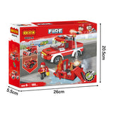legoing fire fighting truck building block toys-6