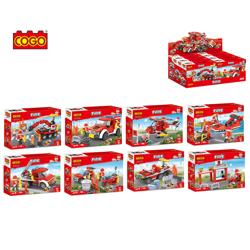 building fire station blocks toys fire-6