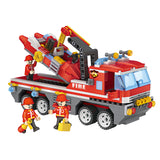 funny child fire toy plastic build block kid-5