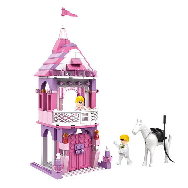 New princess castle play toy build block kit girls toys-5