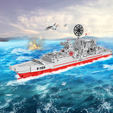 Military warship educational Building Blocks toys for kids-2