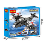 Crestive 3 in 1 fighter airplane building bricks kids toys set for gift-5
