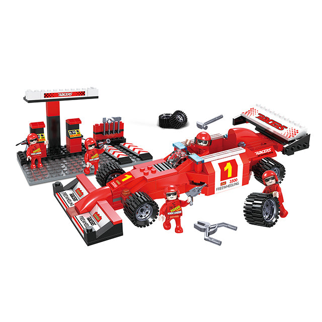Factory sell build block racing car building blocks play set for kids-1