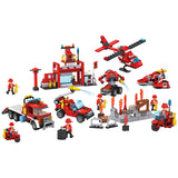 Crestive 8 in 1 fire combination enlighten building bricks kids toys set for gift-1