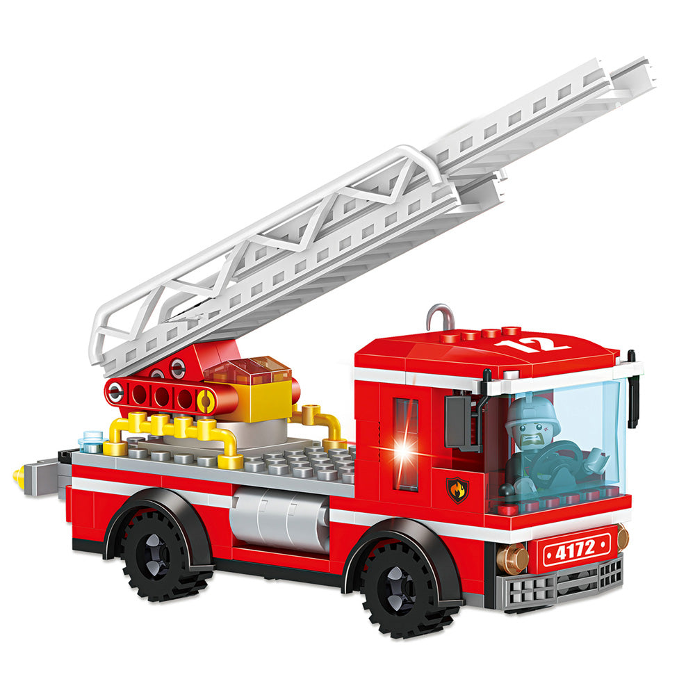 COGO legoingly kid toy brick 2020 kid block build Blocks toy Building Fire rescue truck-1