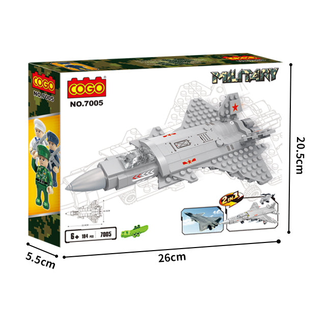aBS military series plane puzzle building block toy set-5