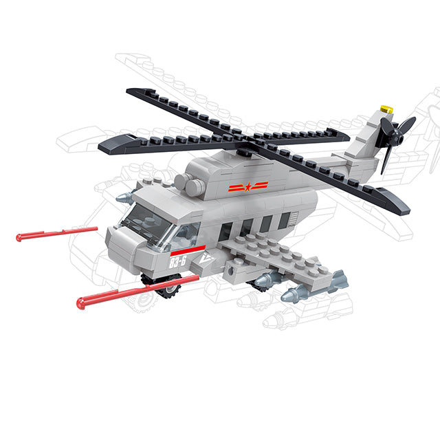 ABS blocks toys military helicopter blocks play toys-1