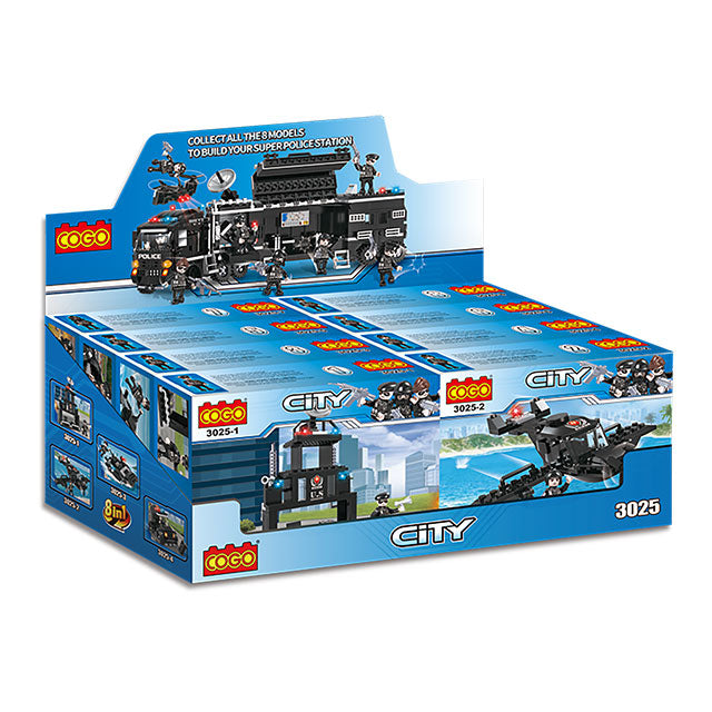 Educational brick police toy-6