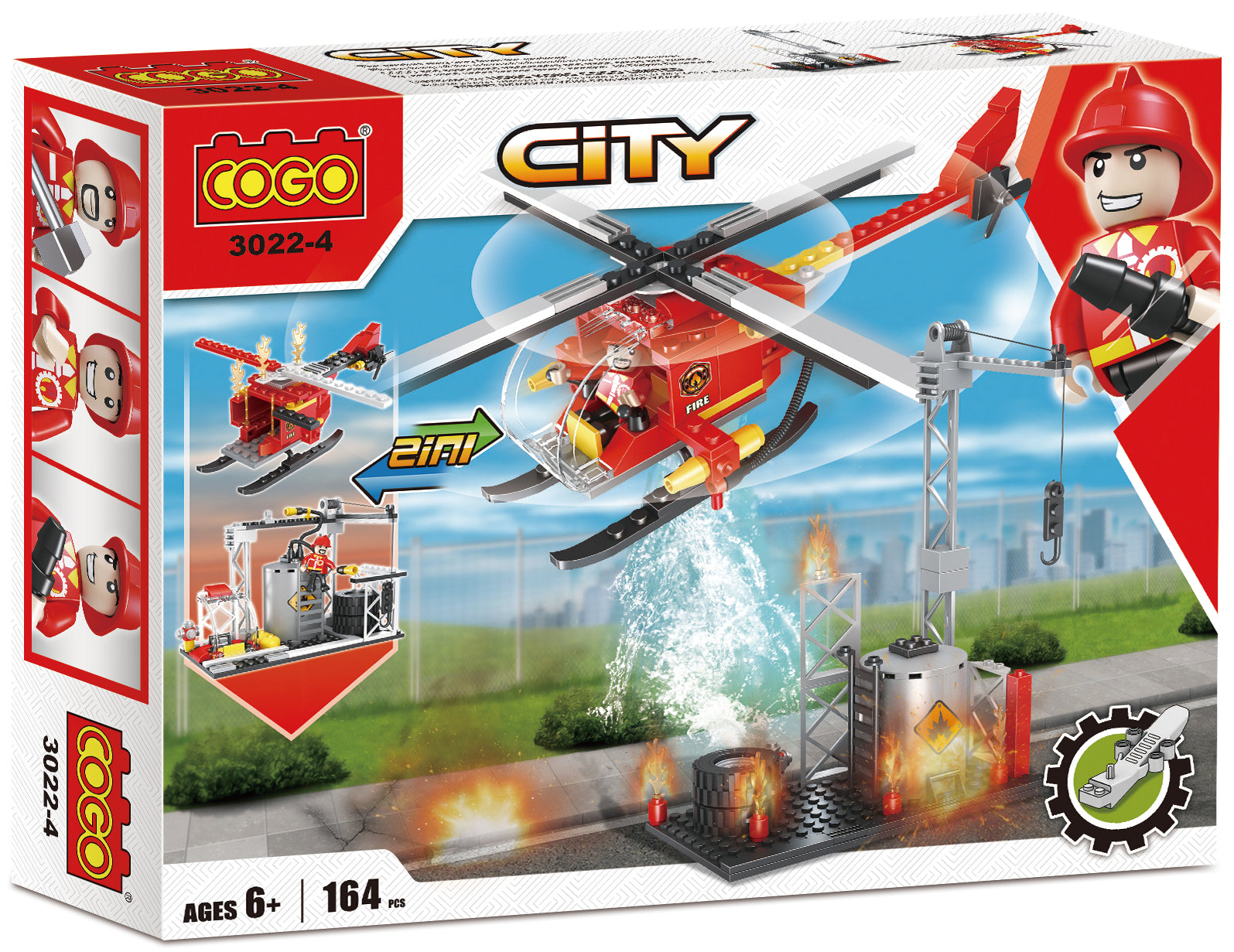 COGO fire series building block set-5