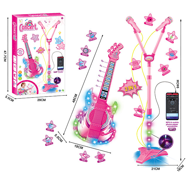 microphone toy for girl musical guitar toy-1