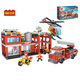 plastic building blocks building blocks brick toy for fire station set-1