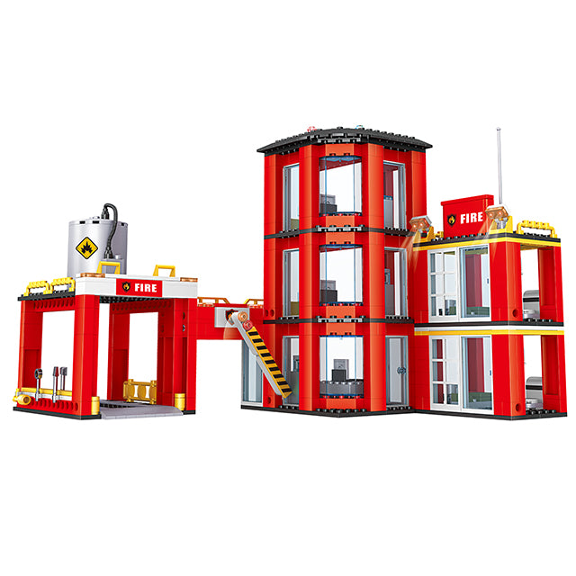 New style fire station puzzle building bricks kids toys set for gift-4