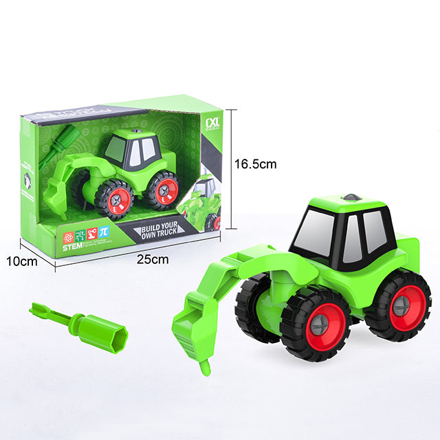 kids toys diy engineering car engineering construction toy car-1