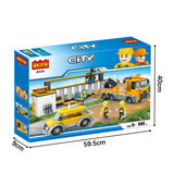 City architecture model build block toys set-6