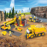 Engineering truck blocks toys Building Block DIY Construction for boys-2
