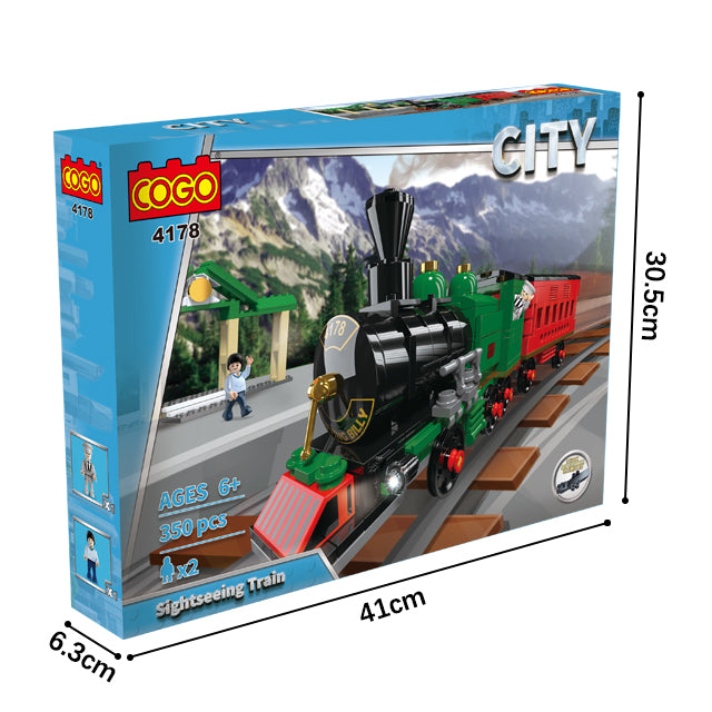 Plastic new train building puzzle blocks toys-5