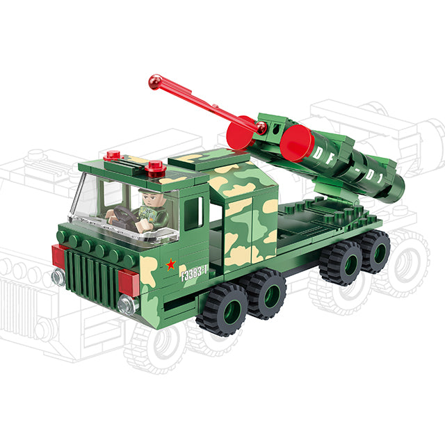 Military truck building block set-1