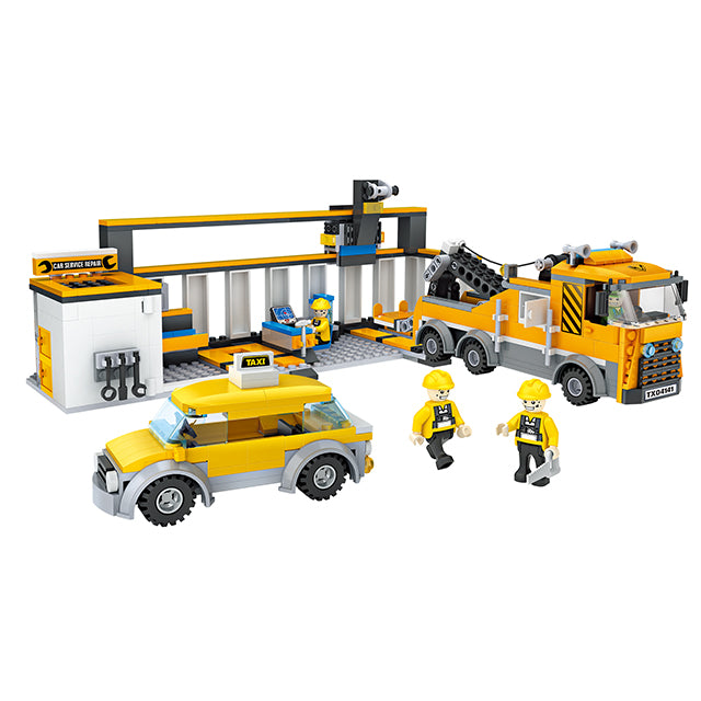City architecture model build block toys set-1