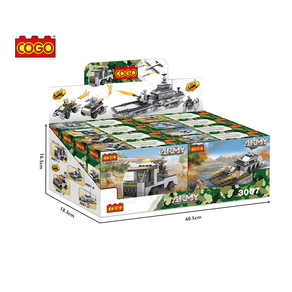 Army Carriage Model Building Blocks toys set for boys-6