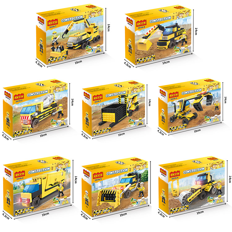 Creative free construction engineering car kids toys set for gift-5