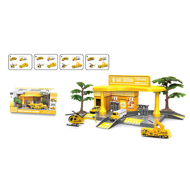 engineering truck gas station toy gas filling station toy-1