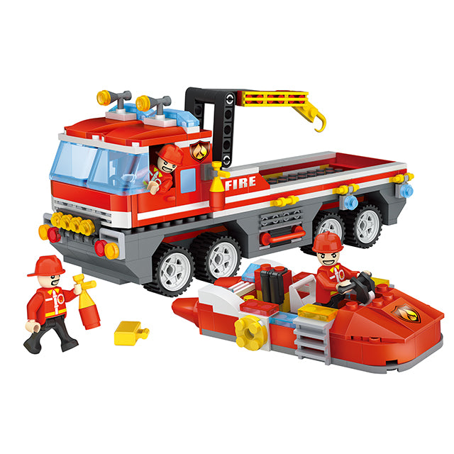 funny child fire toy plastic build block kid-1