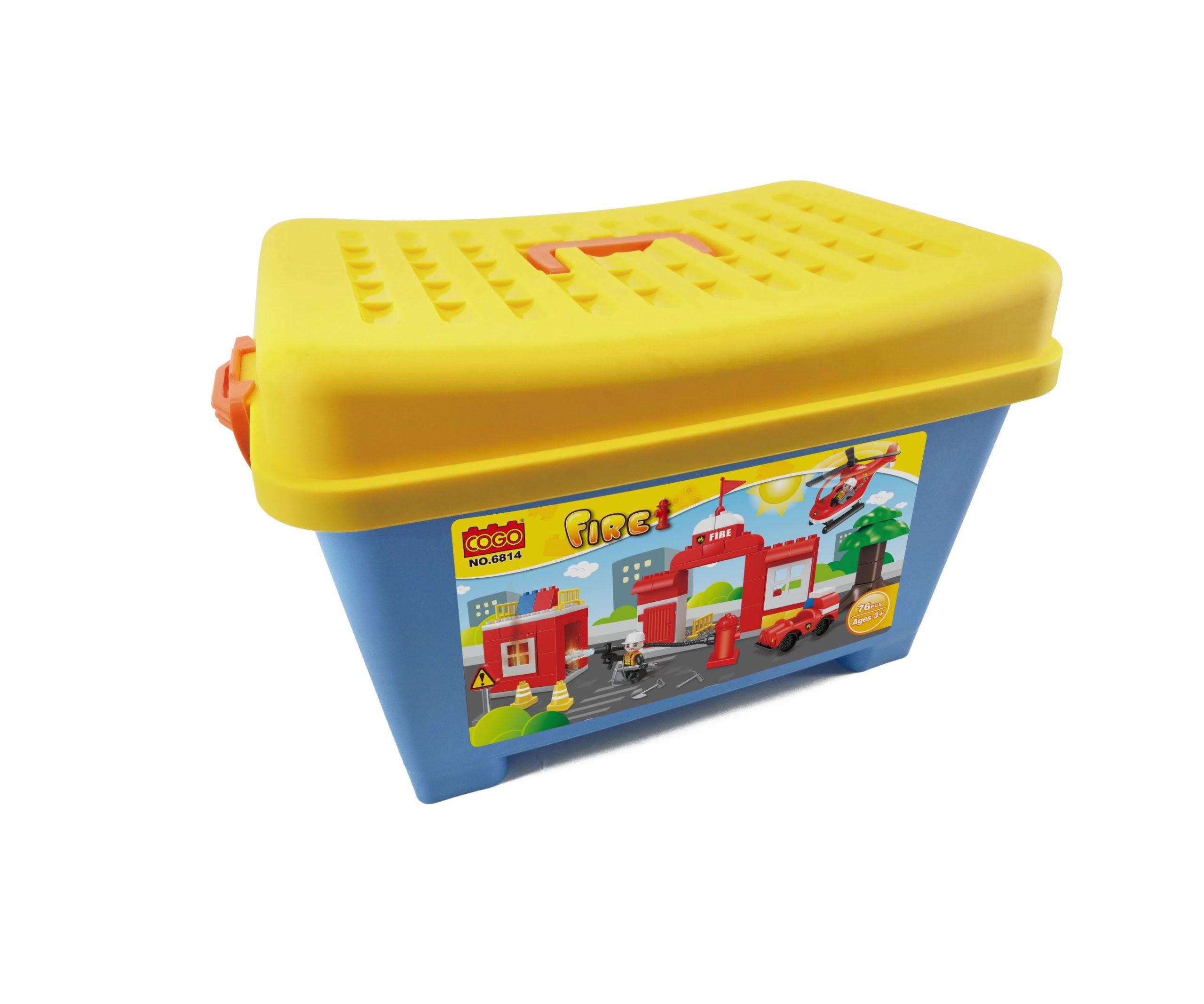plastic duplo fire fighting Blocks toys for kids-3