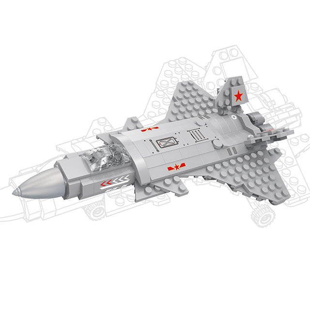 aBS military series plane puzzle building block toy set-1