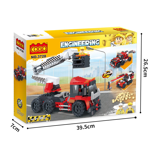 Creative free construction Crane car kids toys for gift-6