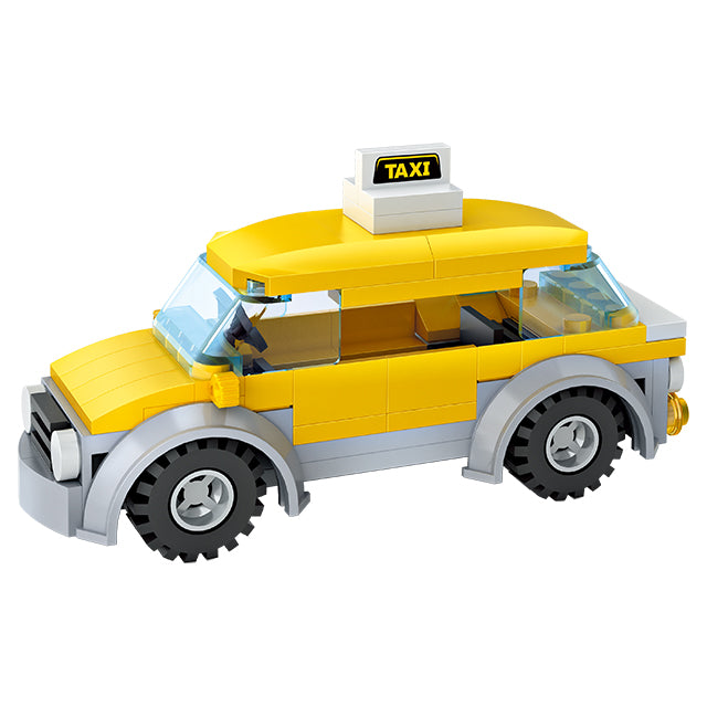 Car service repair building block toy-4