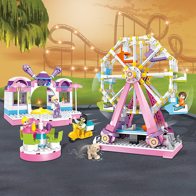 sky wheel brick toys for girl-2