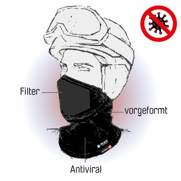 Masque tubulaire avec sac filtrant (Swiss Engineering)