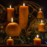 Shipwreck Honey Seattle WA Beeswax Candle Fleur De Lis Sphere Beeswax Candle Collection View